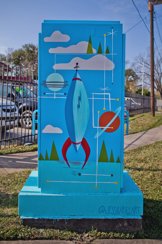 Jessica Rice MiniMural in the Hobby District