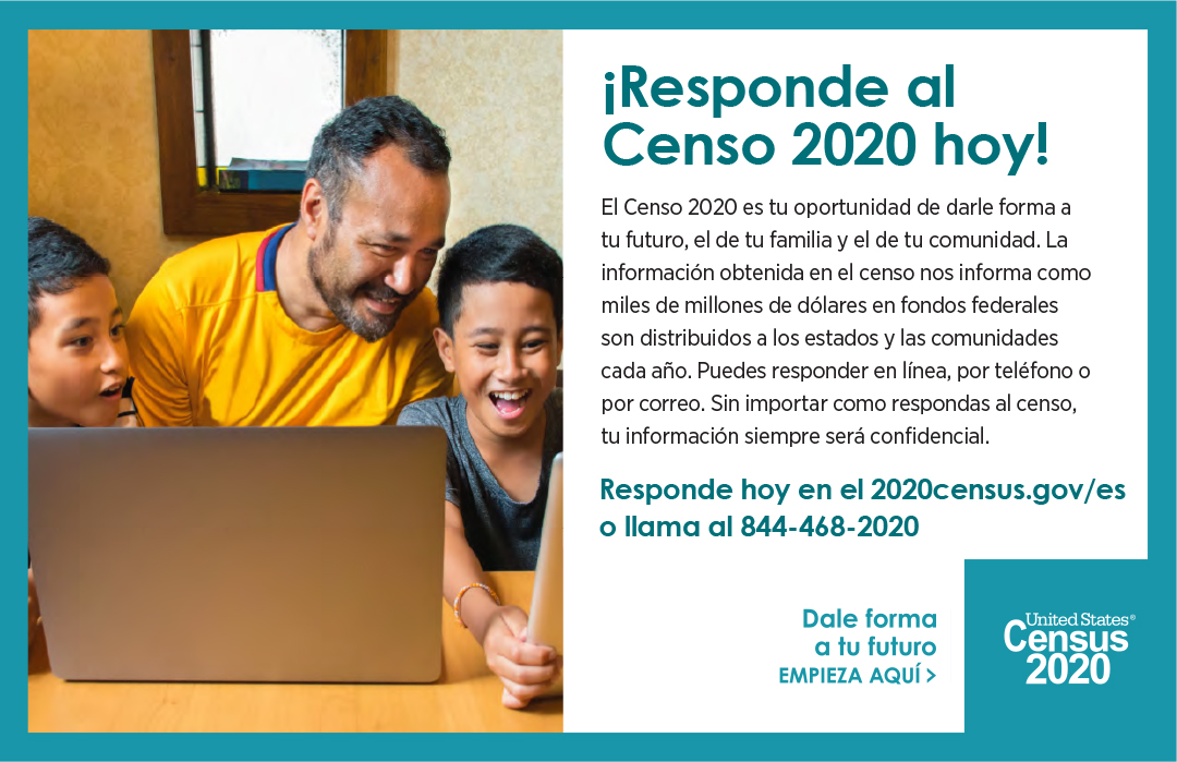 Respond to the 2020 Census today! 3