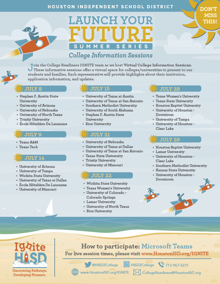 HISD: Launch Your Future - Summer Series 1