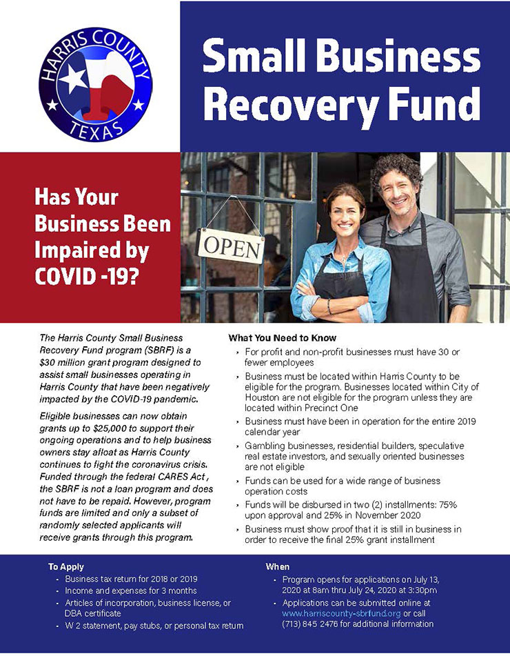 Harris County Small Business Recovery Fund 1