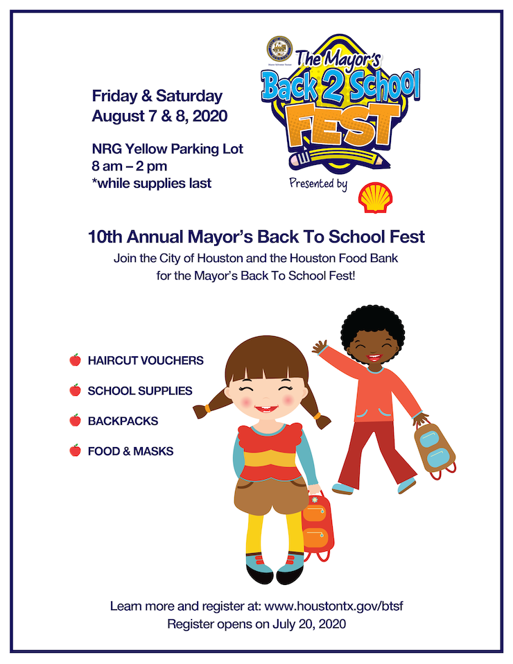 City of Houston Announces the 10th Annual Mayor's Back to School Fest 1