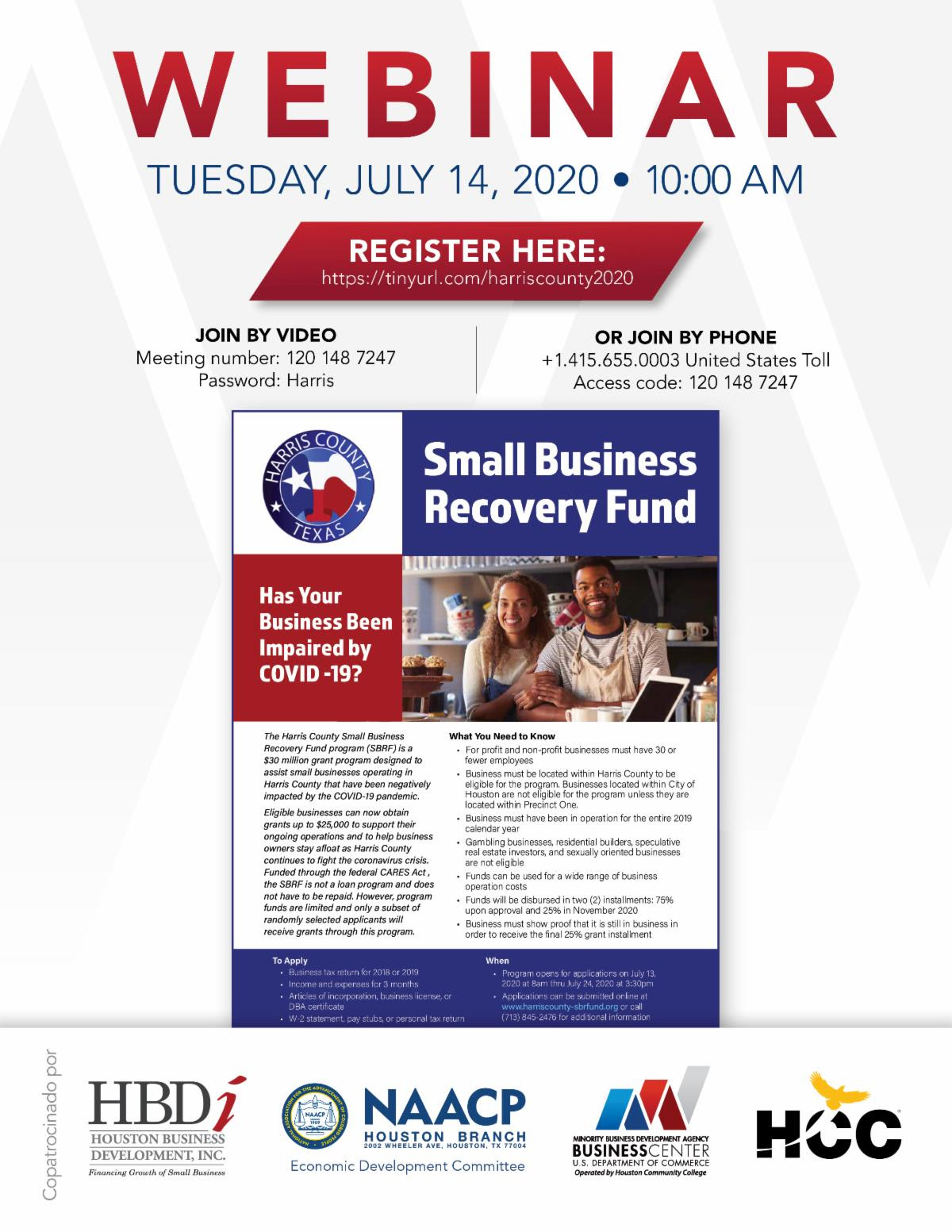 Harris County - Small Business Recovery Fund 2