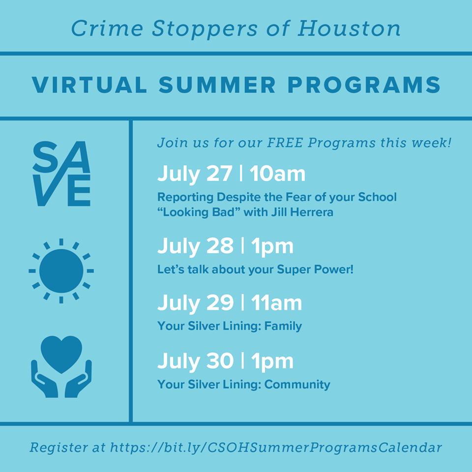 Crime Stoppers of Houston: Virtual Summer Programs 1