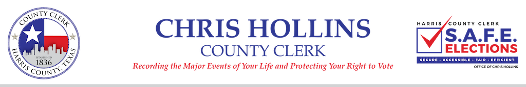 Statement: Harris County Clerk Chris Hollins on Expected USPS Delivery Delays in November 1