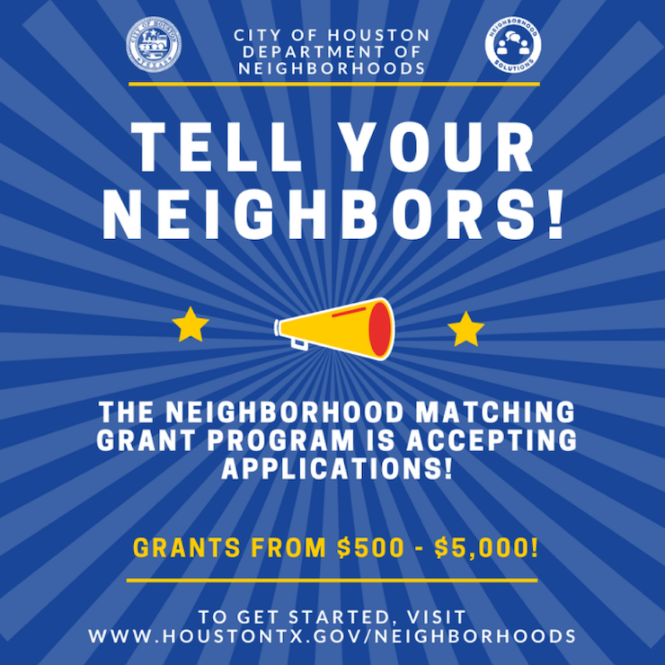 The Neighborhood Matching Grant Program is Accepting Applications 1