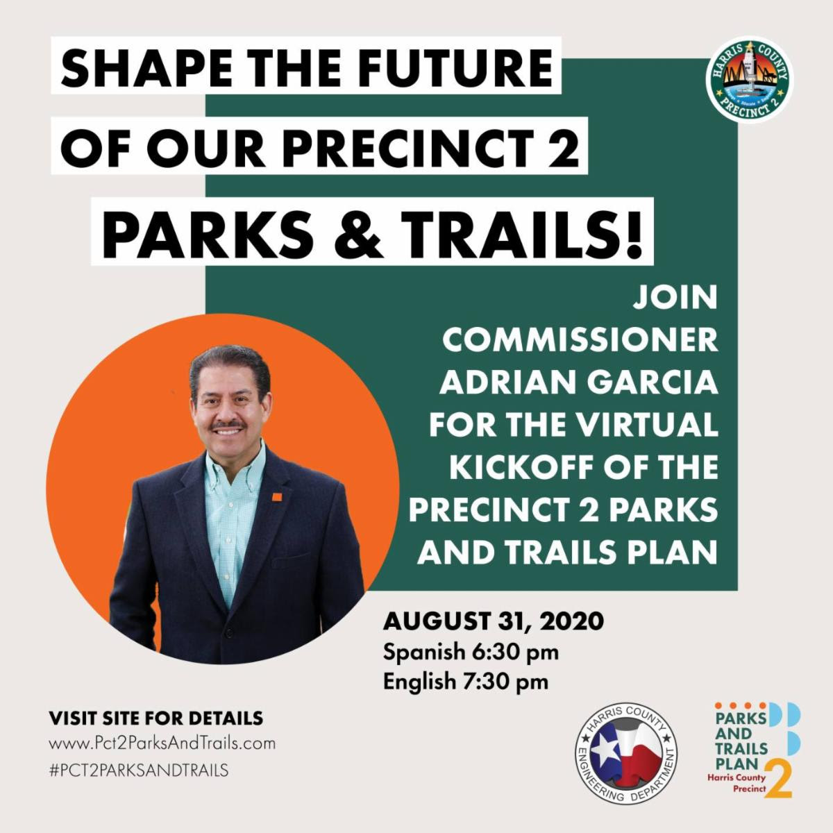 You are Invited: Precinct 2 Parks & Trails Plan Kickoff Meeting! 2