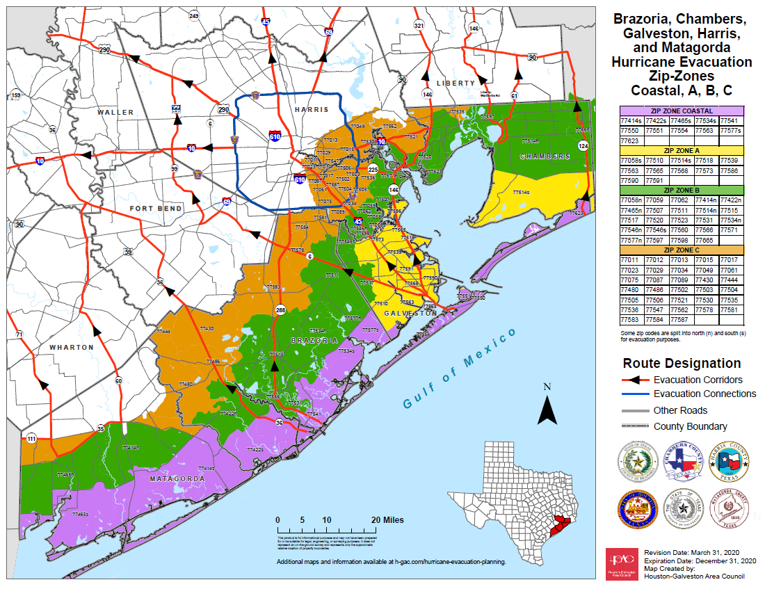 Voluntary Evacuation for Coastal Harris County (Tuesday, 1:45 p.m.) 2