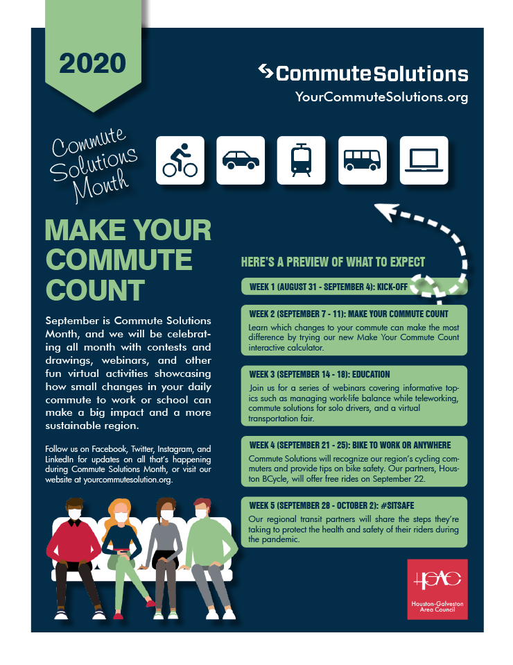 H-GAC Invites you to Celebrate Commute Solutions Month 1