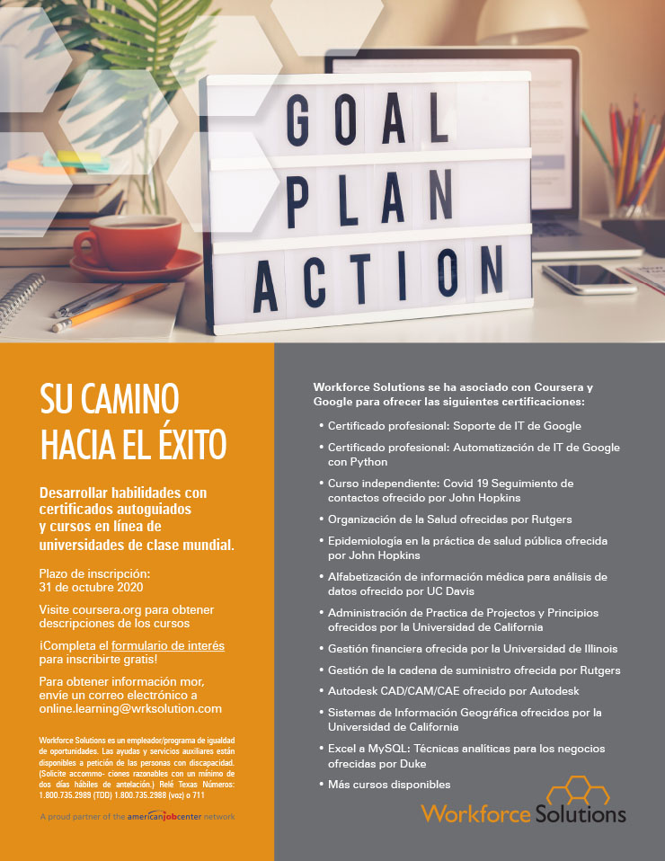 Workforce Solutions: Goal. Plan. Action. 2