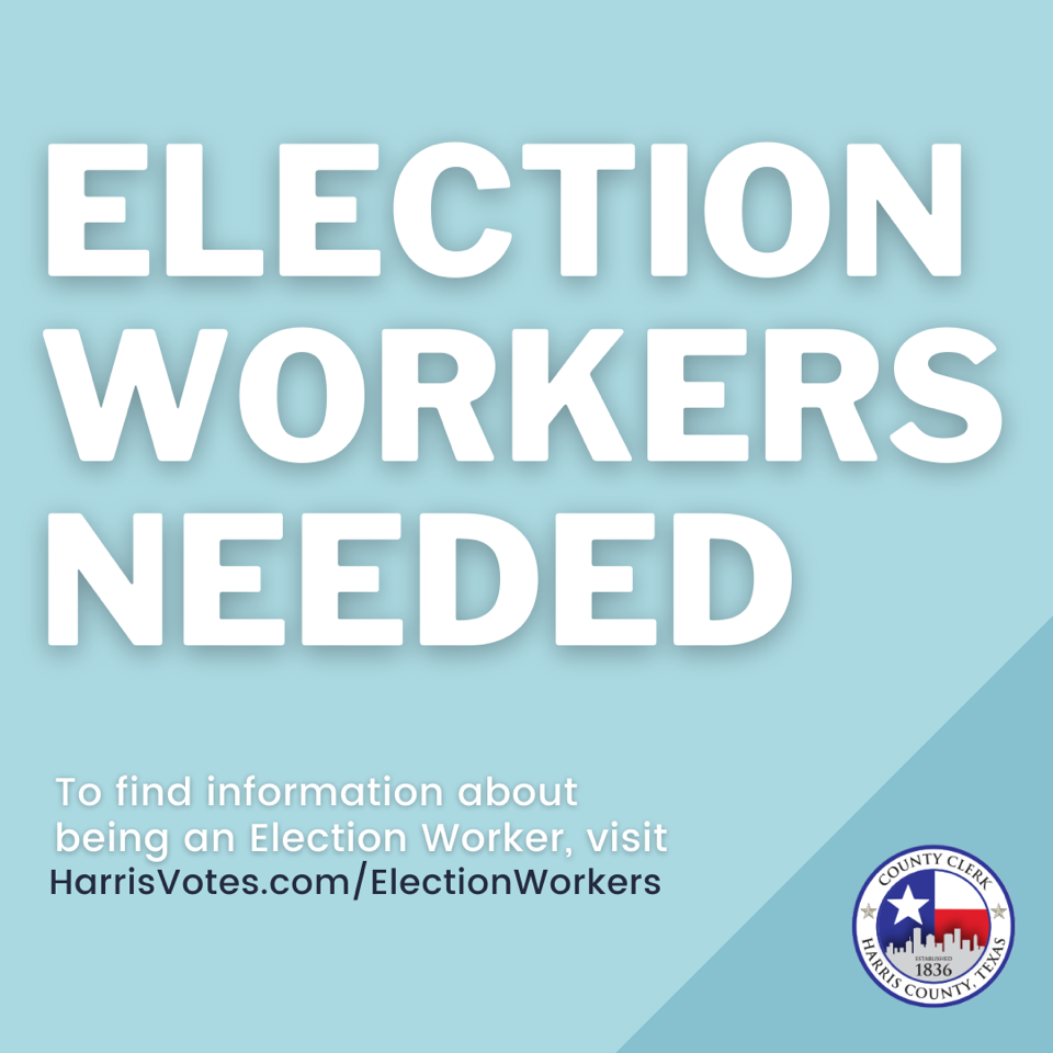 Election Workers Needed 1