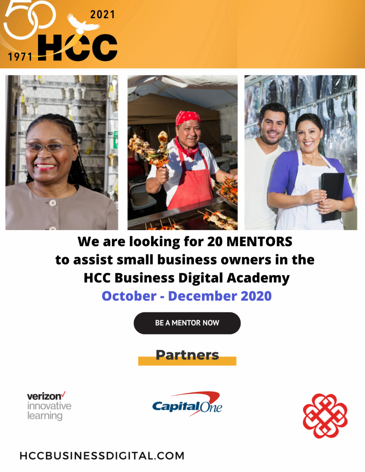 HCC: Are you a Business Mentor? We are looking for you! 1