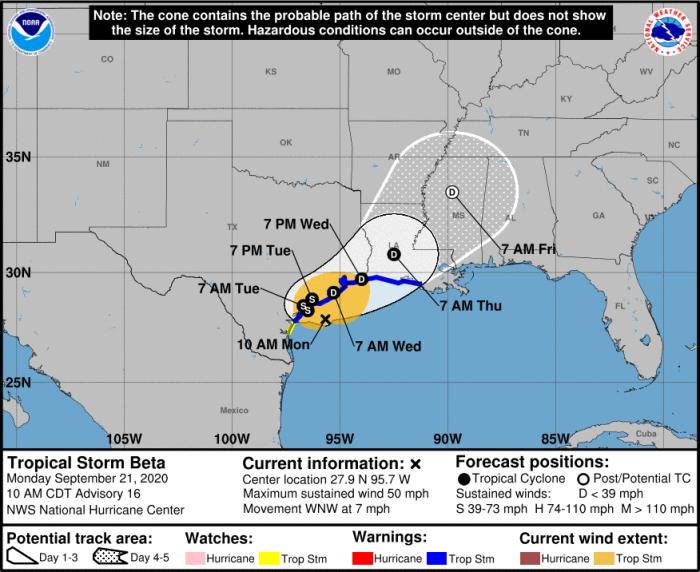 ReadyHarris: Tropical Storm Beta Update (Monday, 1:00 p.m.) 2