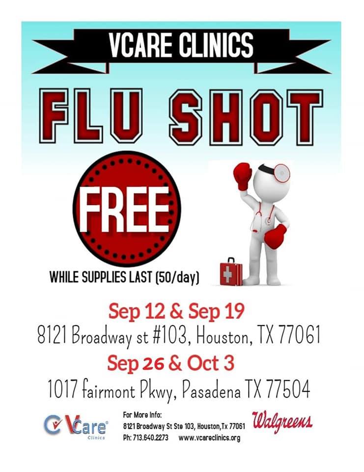 VCare CLinics: Free Flu Shots 1