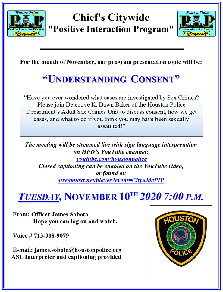HPD Citywide PIP Meeting Livestreamed Tuesday, November 10, 2020 7 PM 1