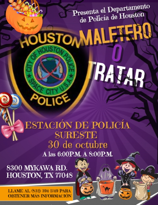 Houston Police Department Southeast Division Drive Thru Trunks or Treat, Oct. 30 2