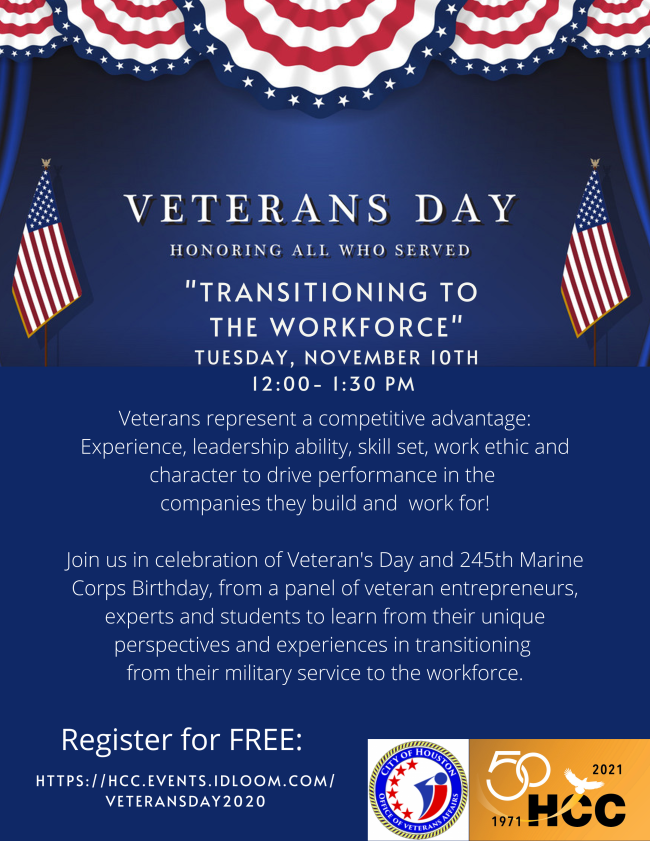 HHC: Are you a veteran and want to be an entrepreneur? 1