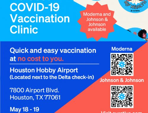 No Cost COVID-19 Vaccination Clinic at Hobby Airport, May 18-19
