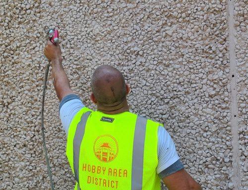 Hobby Area District Graffiti Abatement program is working