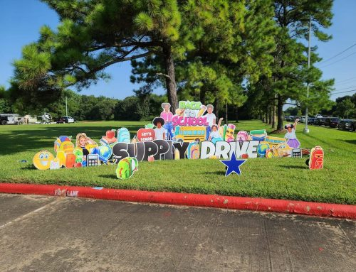 Pictures: Hobby Area District Supports HPD's Back-to-School Backpack Giveaway