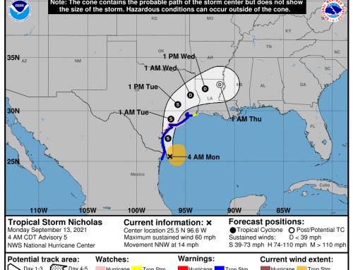 Ready Harris Alerts: Tropical Storm Nicholas – Update