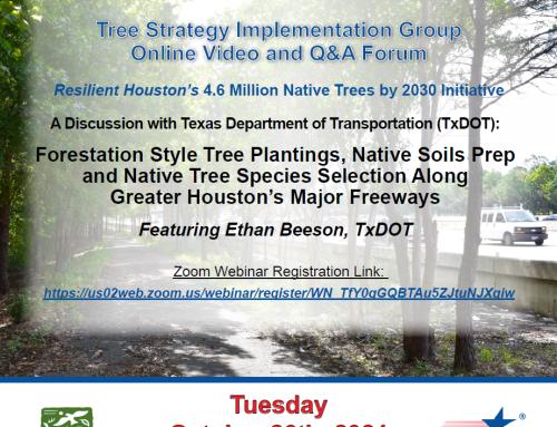 October TSIG Forum and November Texas Arbor Day Tree Planting